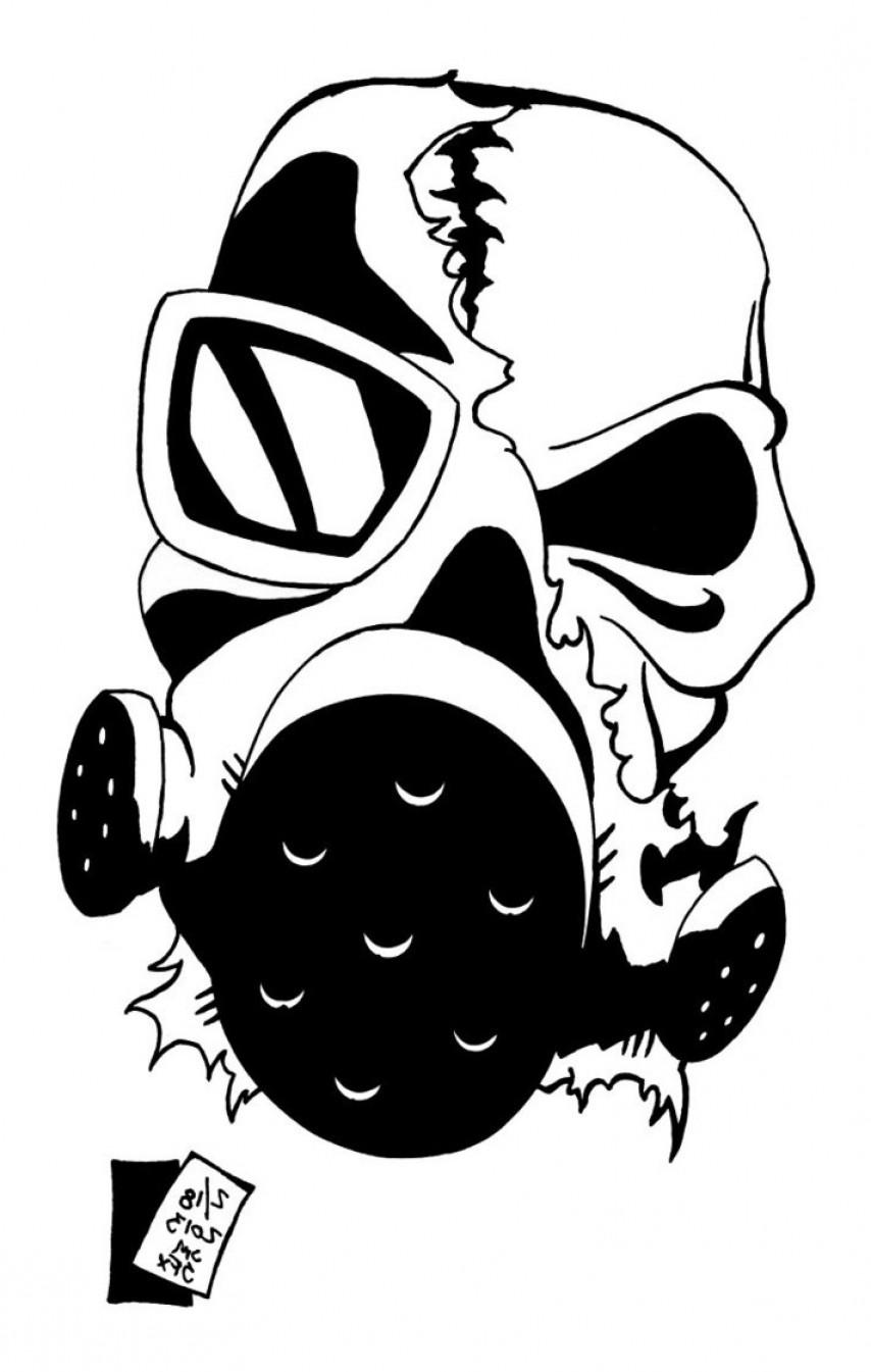 854x1345 Vector Skull Gas Mask Drawings Geekchicpro