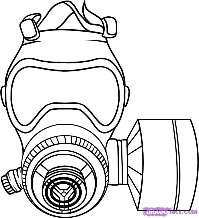 694x759 How To Draw A Gas Mask Step Inspiration Gas Mask Drawing