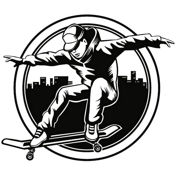 Graffiti Skateboard Drawing