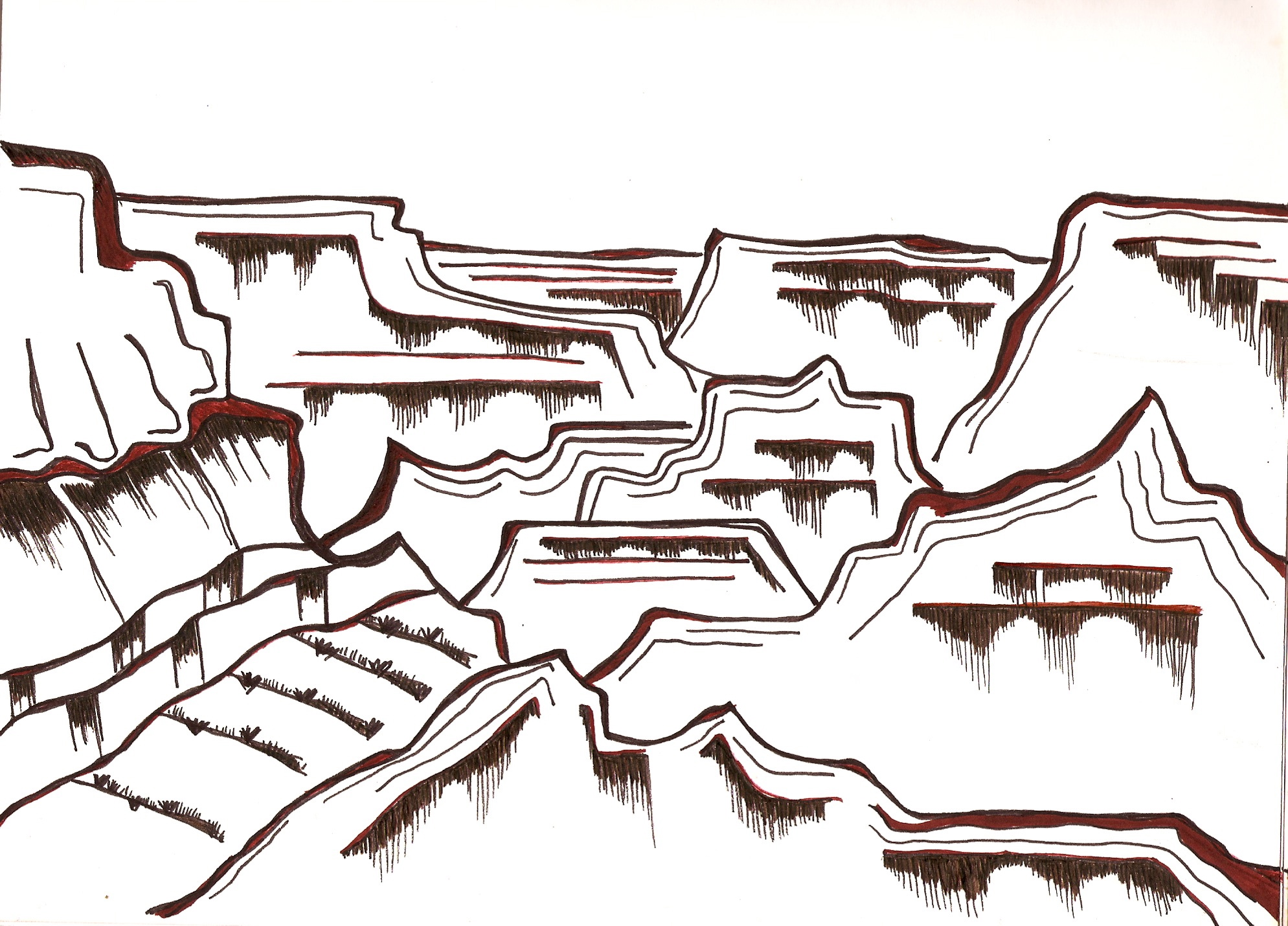 Grand Canyon Drawing | Free download on ClipArtMag