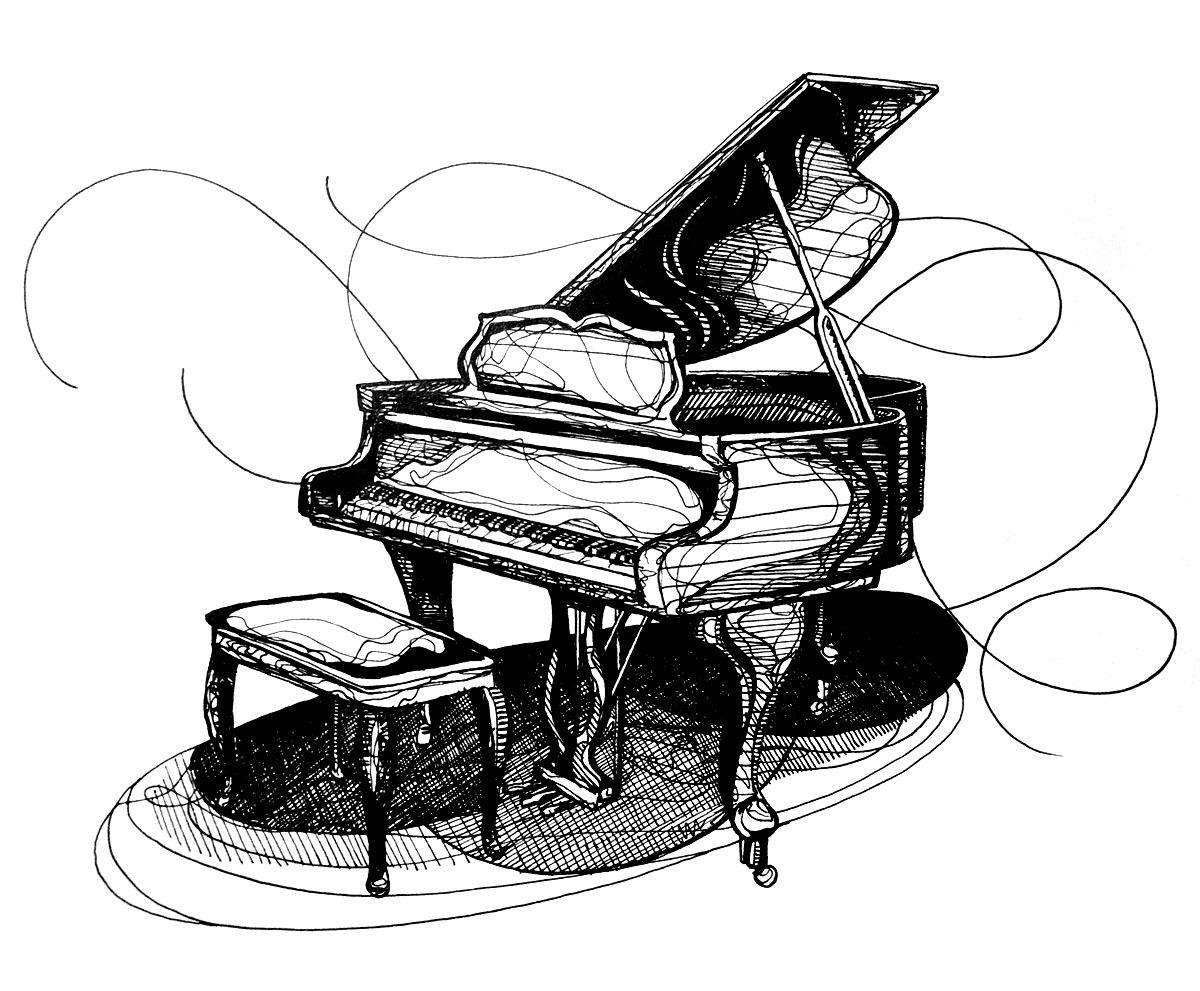 1200x991 kh daily drawing daily drawing, week pianos! piano baby