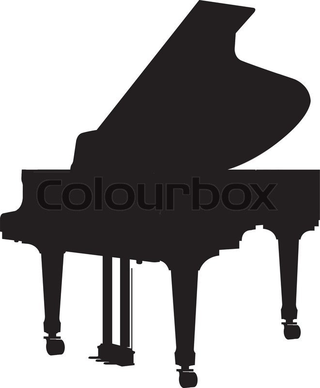 661x800 Grand Piano Silhouette Stock Vector Colourbox
