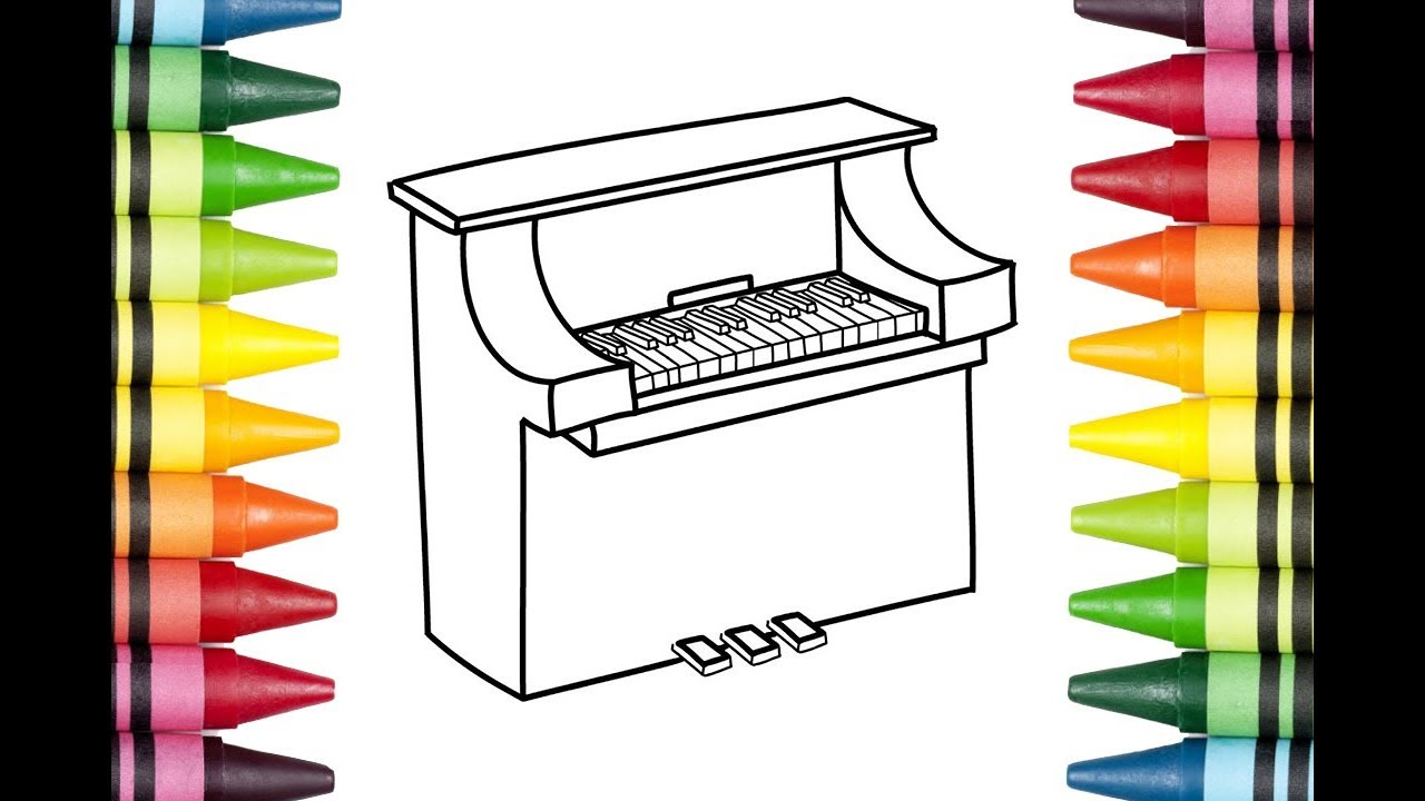 1280x720 Piano Easy Draw Tutorial How To Draw A Piano For Kids