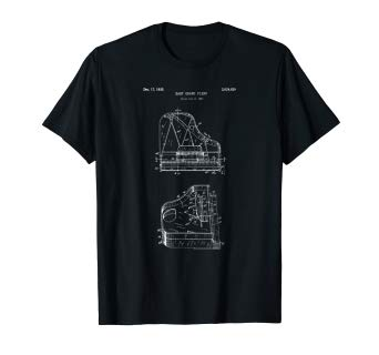 342x320 Baby Grand Piano Blueprint Shirt