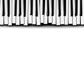 320x240 Beautiful Monochrome Piano Concert Invitation Card With Simple