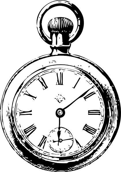 420x595 pocket watch clip art free open pocket watch tattoo design