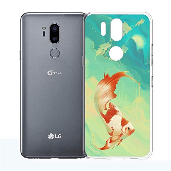 569x569 goldfish drawing lg thinq case,lg case