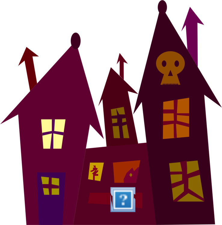 738x750 Haunted House Ghost Spooky House Drawing Cc0