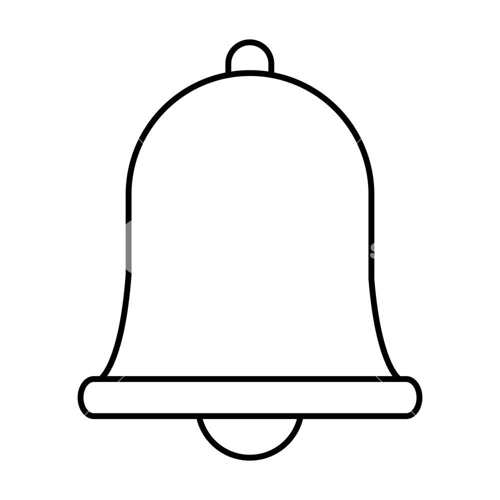 1000x1000 Notification Bell Icon Drawing In White Background Vector