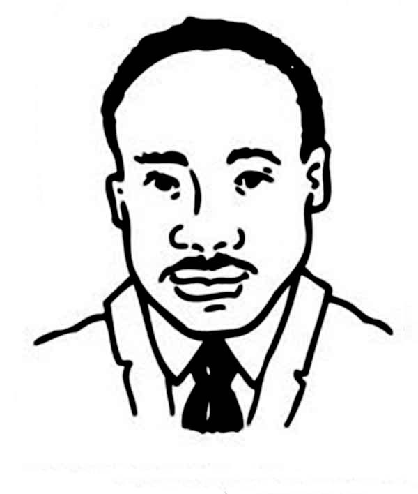 600x708 how to draw martin luther king martin luther king jr clipart black