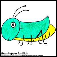 200x200 How To Draw Cartoon Grasshoppers Realistic Grasshoppers