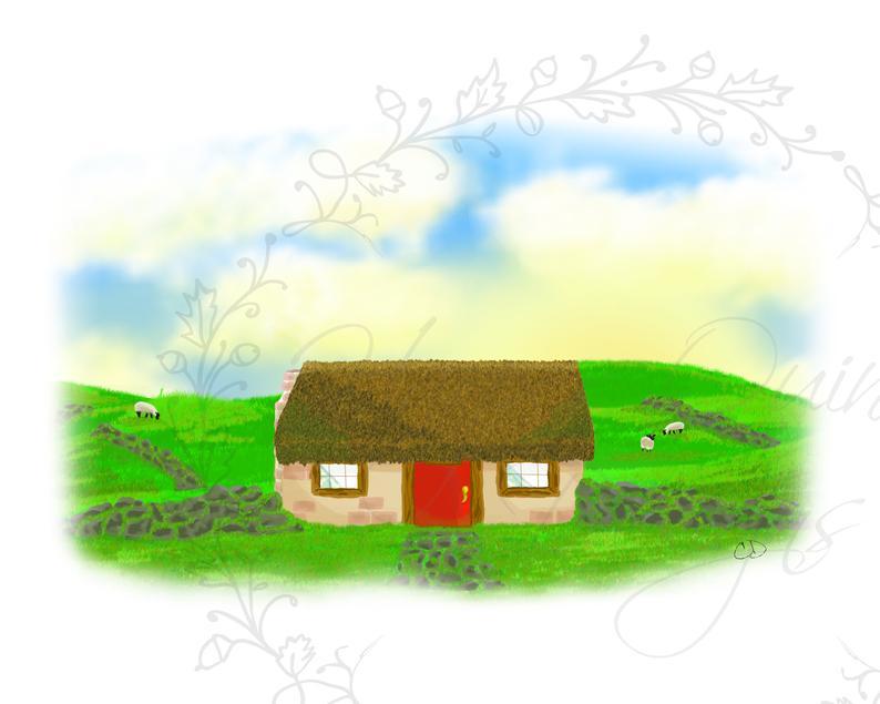 794x635 irish cottage ireland print irish housewarming gift irish etsy