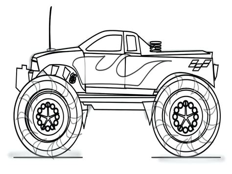 474x355 monster truck colouring sheets grave digger monster truck coloring