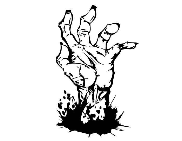 700x541 Hand Coming Out Of Grave Clipart