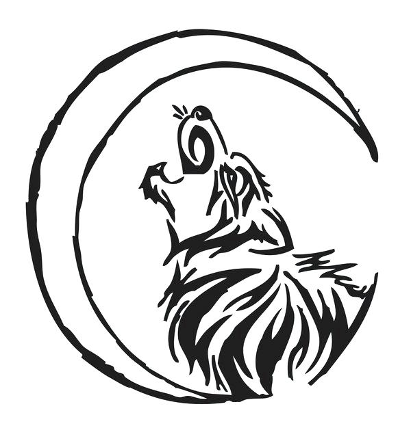 600x645 how to draw a wolf howling drawn howling wolf tribal wolf wolf