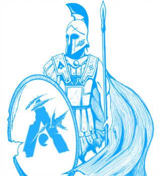 Greek Soldier Drawing