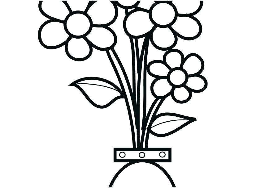 827x609 coloring sheet vase coloring pages of flowers in a vase click