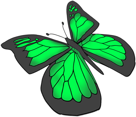 545x467 download purple butterfly drawing, green butterfly drawing