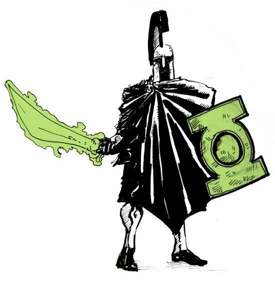 550x569 Green Lantern Across Time Drawings