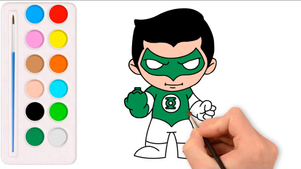 1280x720 Green Lantern Coloring Pages Drawing Green Lantern Coloring Pages