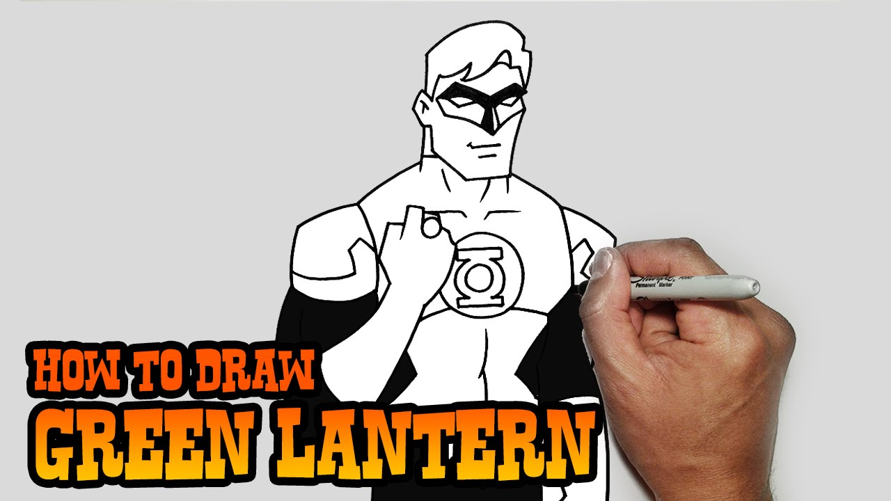 1280x720 How To Draw Green Lantern Young Justice Video Lesson
