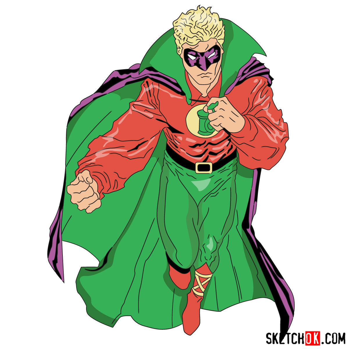 1200x1200 How To Draw Alan Scott The First Green Lantern