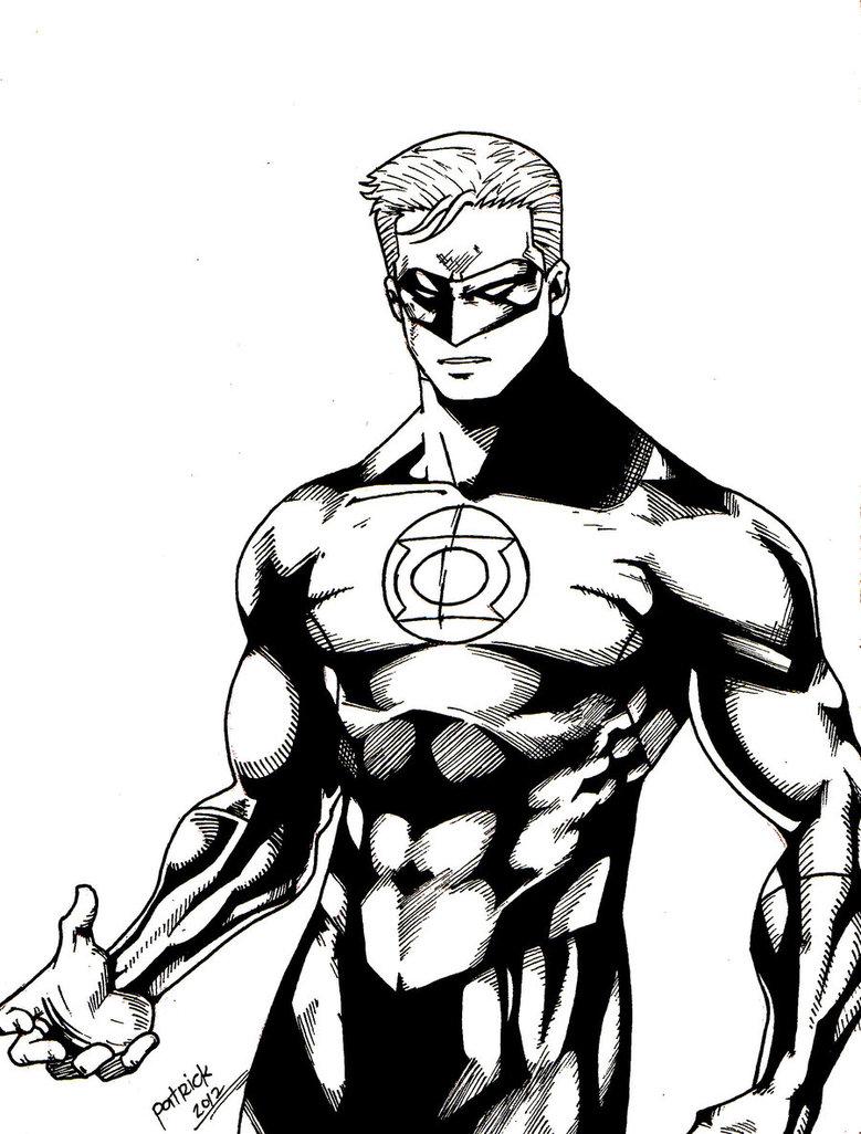 779x1026 Black Green Lantern Drawing