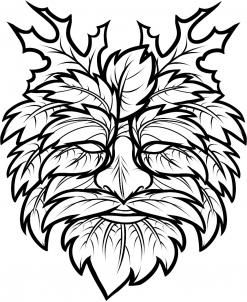 247x302 how to draw the green man, green man step how to draw green