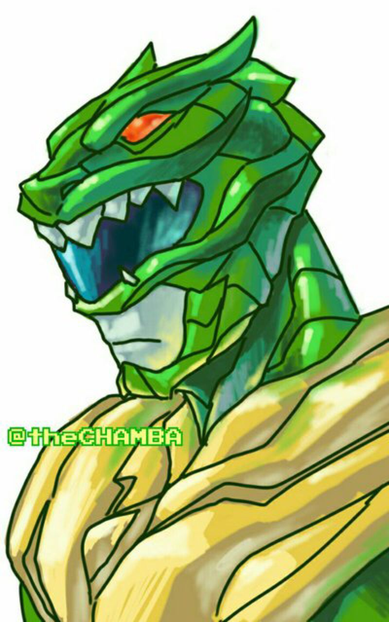 Green Power Ranger Drawing