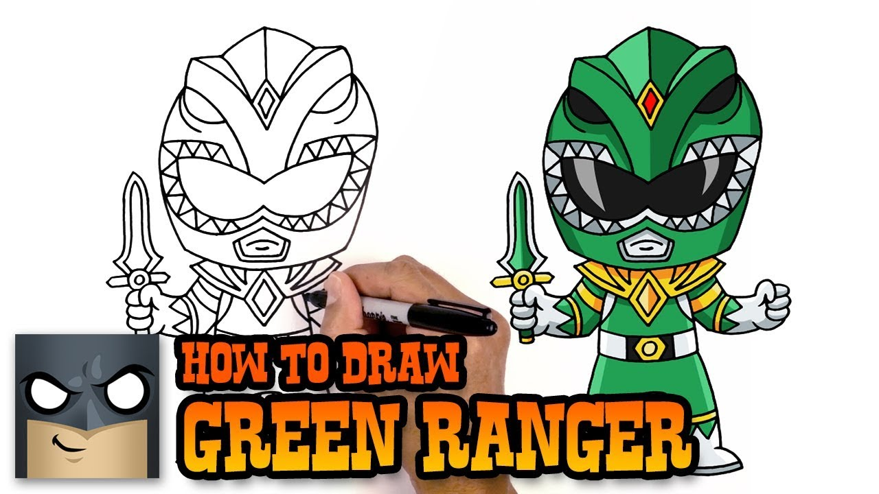 1280x720 How To Draw Green Ranger Power Rangers Awesome Step