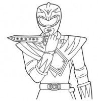 200x200 mighty morphin power rangers green ranger coloring pages