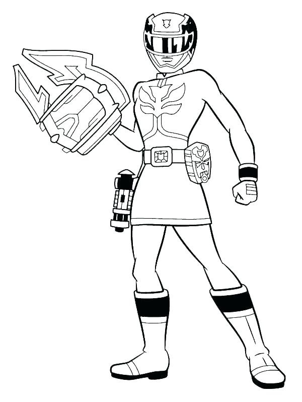 600x798 Power Rangers Samurai Coloring Pages