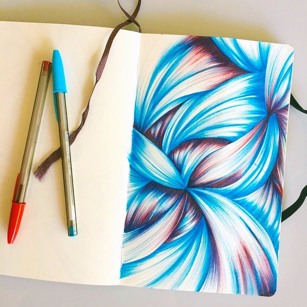 1000x1000 sketchbook drawings become greeting cards ballpoint pen art