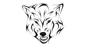 300x169 tribal wolf paw tribal wolf paw designs tribal grey wolf head