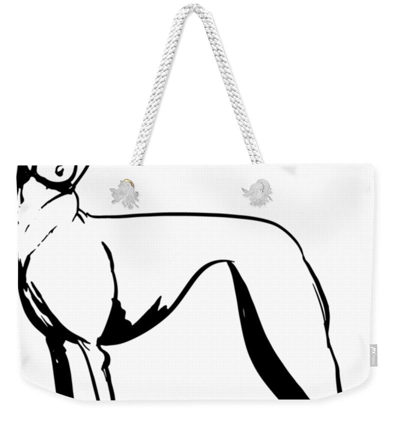 800x845 Greyhound Gesture Sketch Weekender Tote Bag For Sale