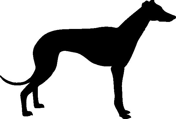 600x407 Greyhound Silhouette Clip Art