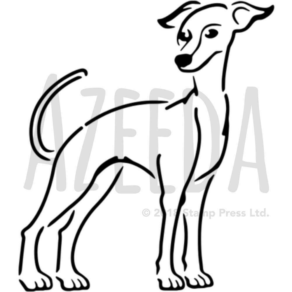 1000x1000 'greyhound' Wall Stencil Template