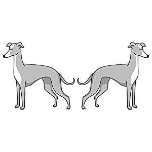 300x300 Greyhound Dog Decal Dog Lover Vinyl Sticker