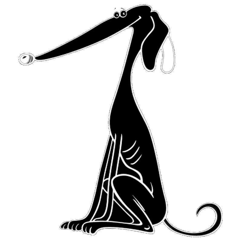 800x800 Black Cartoon Greyhound Decal Love Of Greyhounds
