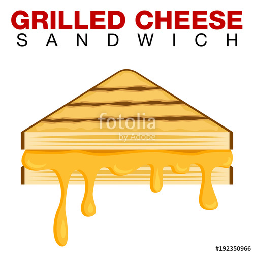 500x500 grilled cheese sandwich dripping melting cheese isolated on white