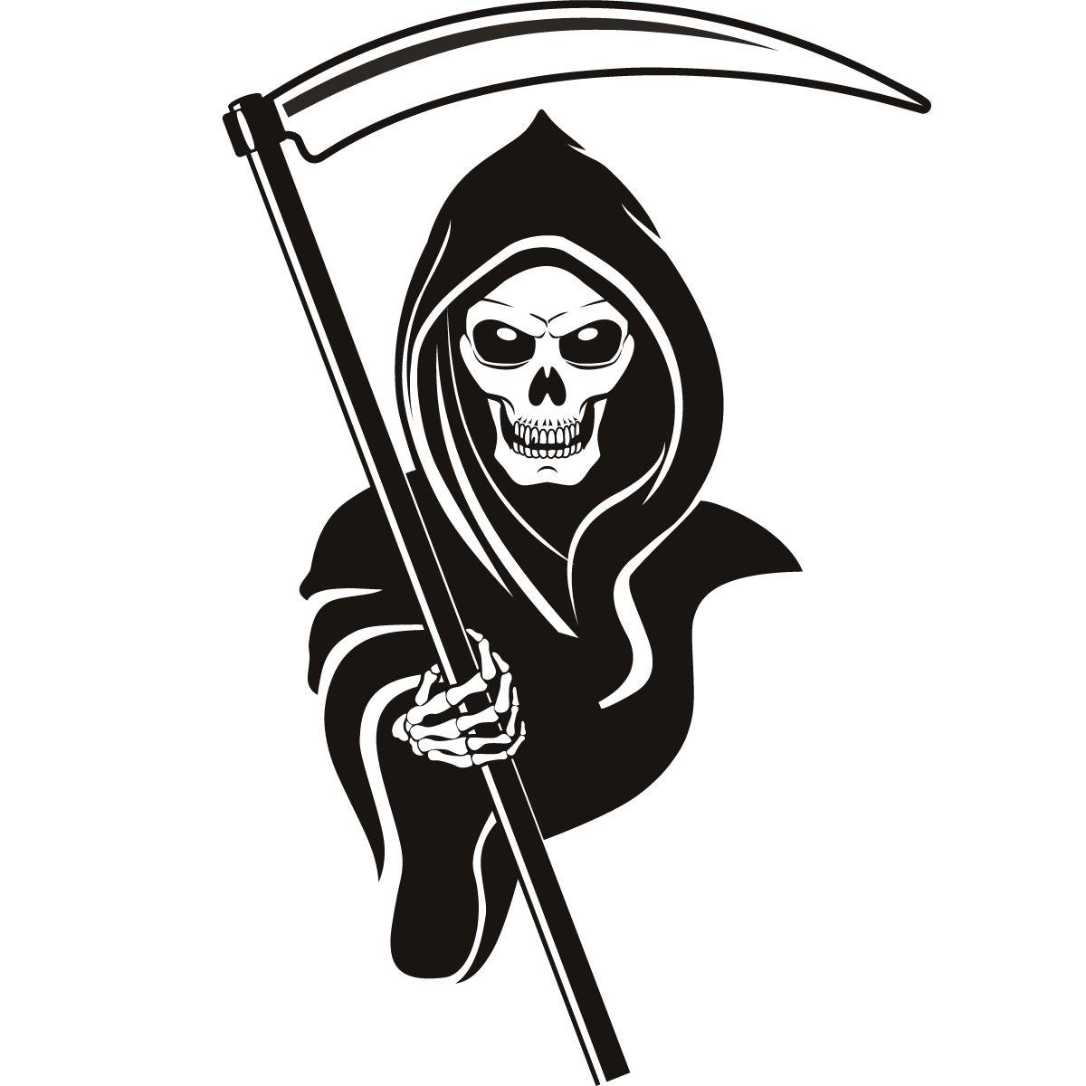 Grim Reaper Line Drawing