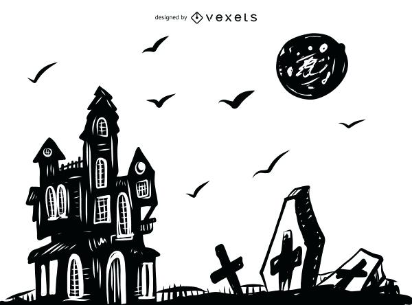 600x444 scary halloween drawings scary coloring sheets for teenagers scary