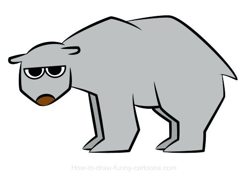 500x360 simple bear drawing polar bear drawings simple grizzly bear