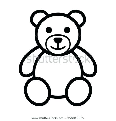 474x495 simple bear drawing polar bear drawings simple grizzly bear