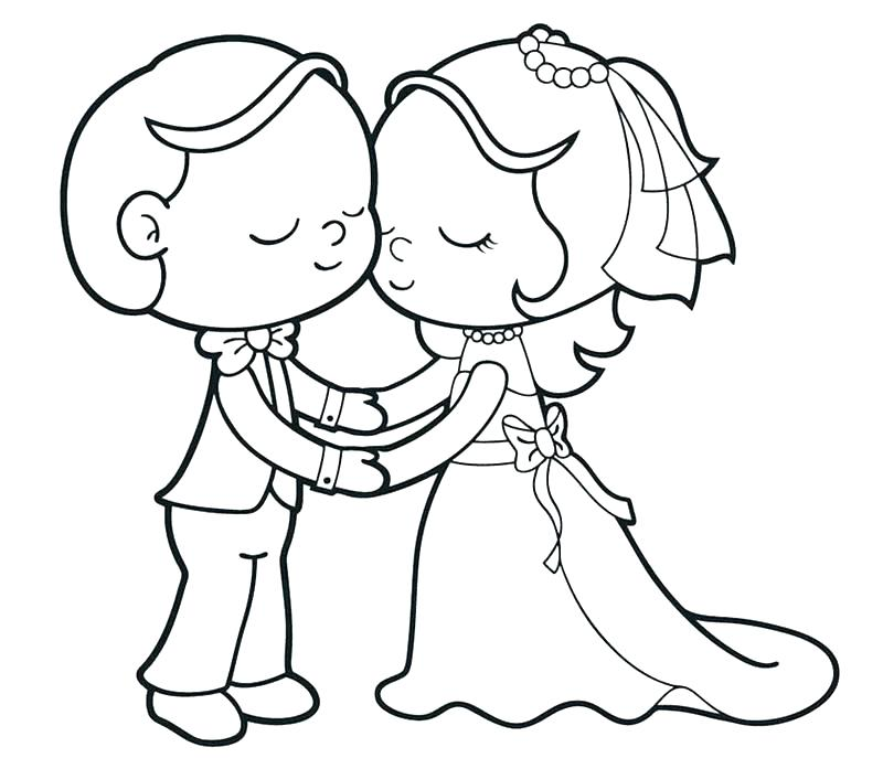 800x687 Bride Groom Coloring Pages