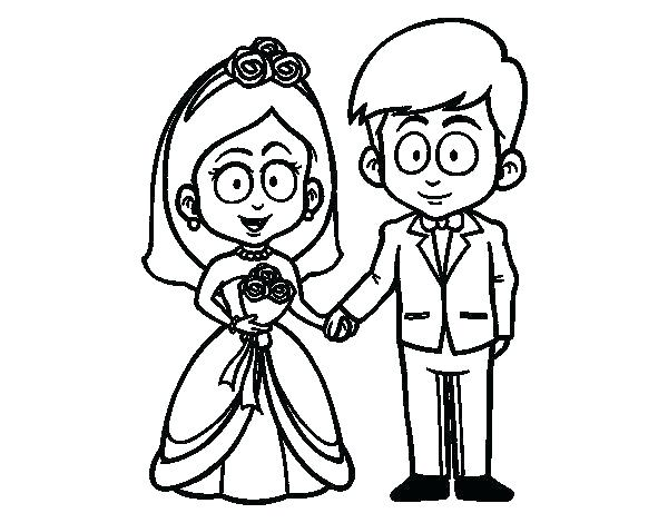 600x470 bride and groom coloring pages free bride and groom printable