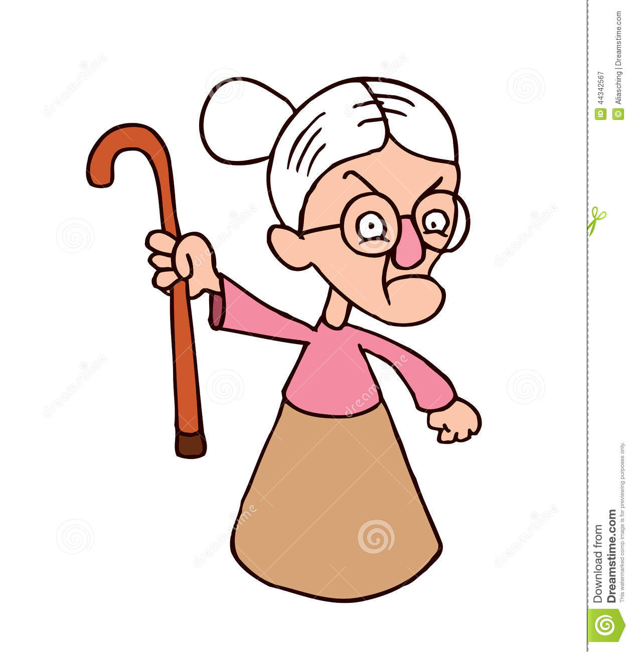 1260x1300 Angry Old Lady Clipart