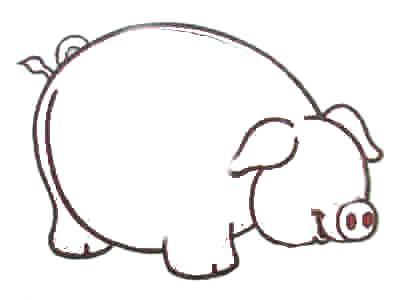 400x300 Cartoon Pig Drawing Draw Pigs Curly Tail Step Cartoon Guinea Pig