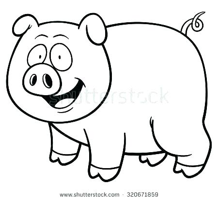 450x414 pig drawing cartoon pig drawing cartoon coloring book pig plus
