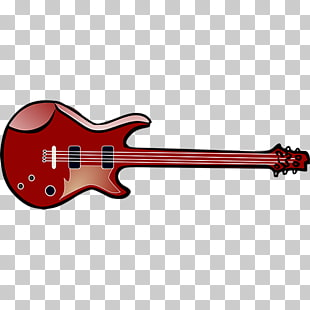 310x310 free download electric guitar cartoon drawing, red guitar png